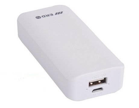 4000mAh Power Bank Charger Universal External Powered Backup Portable Battery Pack Backup Travel Cell Phone Charger for Mobile Phone, iPhone, iPad, Samsung, HTC, Motorola, Sony Ericsson, Nokia, LG, BlackBerry, iPod,MP3,MP4,PSP,PDA - White