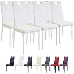 Albatros 2915 Salerno Lot de 6 chaises, Blanc