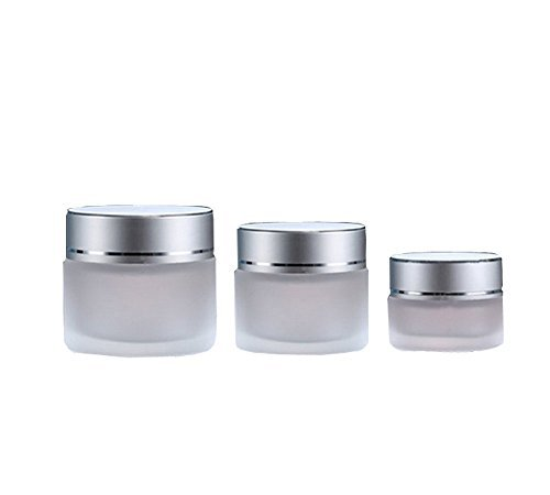30g : 10g/20g/30g 2PCS Clear Glass Refillable Cosmetic Jars Empty Face Cream Lip Balm Storage Container Pot Bottle With White Lids (30g)