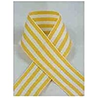Schiff Ribbons 44207-3 10-Yard Candy Stripe Ribbon, 5/8-Inch, Yellow/White Stripe by Schiff Ribbons