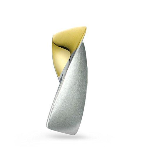 Rhomberg Anhänger Edelstahl, Anhängeröse: 5.0 mm, Beschichtung: IP beschichtet, Breite: 9 mm, Länge (mm): 28 mm, Metallfarbe: gelb, Oberfläche: mattiert/poliert, Zielgruppe: XVision