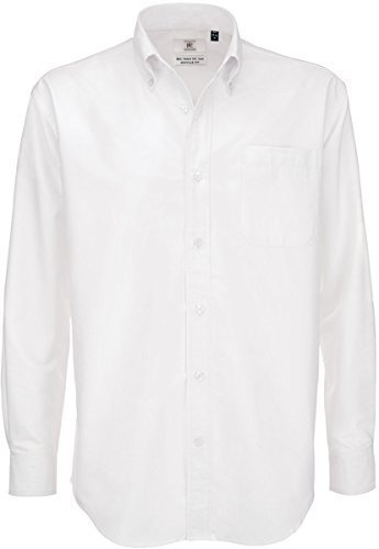 B&C - Camicia Classica Manica Lunga - Uomo (XXL) (Bianco)