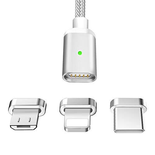 LAMA Magnet Ladekabel Magnetisches USB Datenkabel 1,5M 2,1A High Speed Sync und Schnelllad