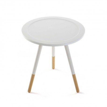 Mimma Table d'appoint Blanche Catania Table d'appoint Blanche Catania Blanc