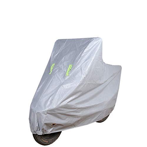 YYF Motorrad Abdeckung Motorrad Abdeckung Roller Abdeckung Schutz im Freien Oxford Universal Heavy Duty Abdeckung Externe Lagerung (Color : Gray, Größe : XXL)