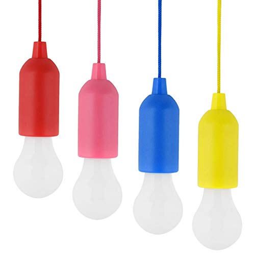 Glühlampen ohne Strom, Vococal 4 Stück Glühbirnen ohne Kabel, Batteriebetrieben geeignet für Feste Weihnachten Neujahr.
