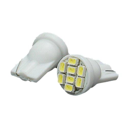 Preisvergleich Produktbild sourcingmap® 2x Weiß LED T10 W5W 194 168 8 SMD 1210 Auto Innenraumbeleuchtunge Lampe Birne