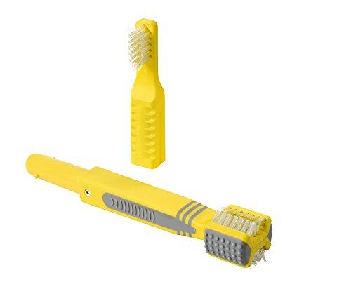 Hunter 3-in-1 Zahnpflegeset für Hunde, gelb/grau