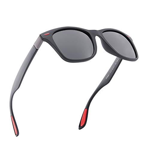 Sonnenbrillen Herren,Polarisierte Sonnenbrille Rot, Elegant und Langlebig 100% UV-Schutz Sonnenbrillen für Männer