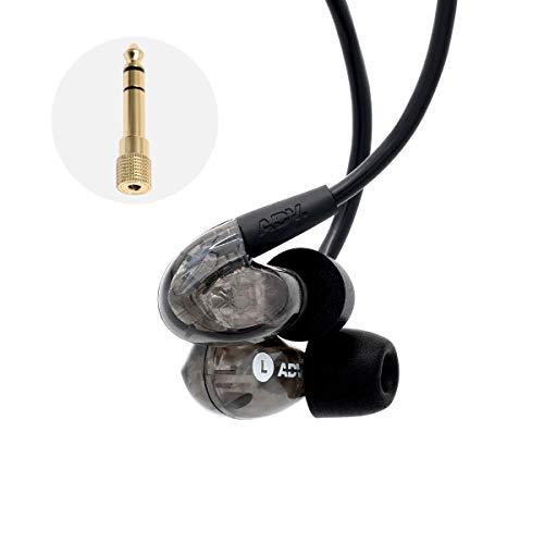 ADVANCED S2000 Stage In-Ear Monitor Earphones Per Musicisti IEM Recording Performance Headphones Cavo Ergonomico Memory Secure-Fit, Resistente anche al sudore ideale per lo Sport