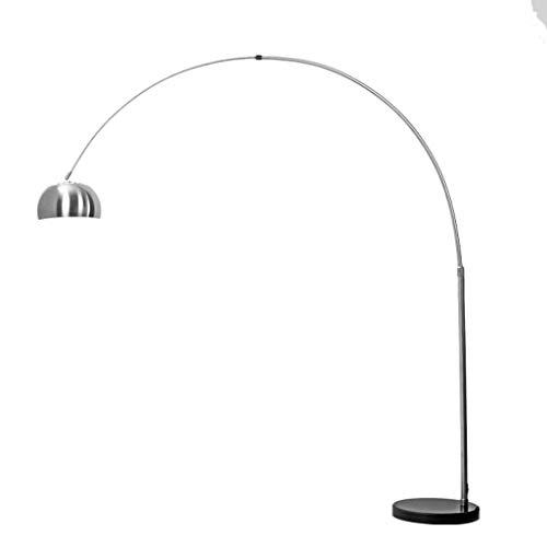YKKFC Arc Stehleuchte, zeitgenössisches minimalistisches Lichtdesign, 40W warmweißes Licht, Moderne vernickelte Edelstahl-Stehlampe - Licht Arc Stehlampe