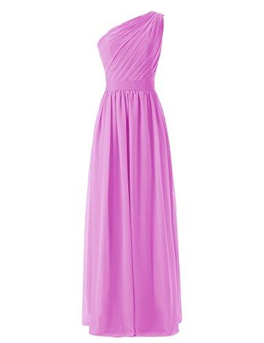 Dresstells, une épaule robe de soirée robe de demoiselle d'honneur longueur ras du sol Lilas