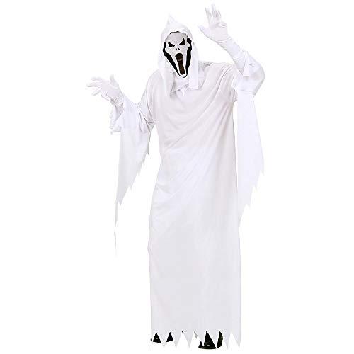 Widmann 02682 - Erwachsenenkostüm Gespenst, Tunika, Maske mit Kapuze, Größe M (Geister Kostüme)