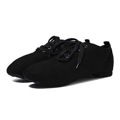 Wuyulunbi@ Donna Ballet Canvas suola piena Sneaker Professional tacco piatto Rosa Rosso Bianco Nero US6.5 / EU38 / UK5 Big Kids