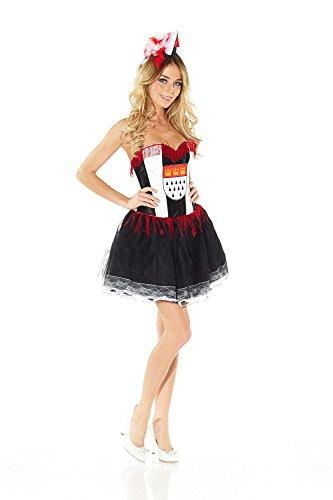 Bierdose Kostüm - shoperama Korsagen-Kleid mit Köln-Wappen KÖLSCH MÄDCHE , Größe:S