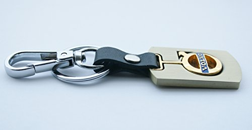 3d-gold-finish-metal-car-key-chain-keyring-with-volvo