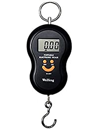 """Portable Multi Electronic Digital Hand Weighing Hook Scale 40KG Max / 10g Resolution 1.5"""" LCD Double Precision HHI-4953"""