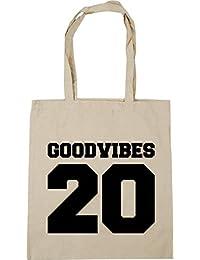 5bc7cf818 HippoWarehouse Good Vibes 20 (Impreso en la Espalda) Bolso de Playa Bolsa  Compra Con