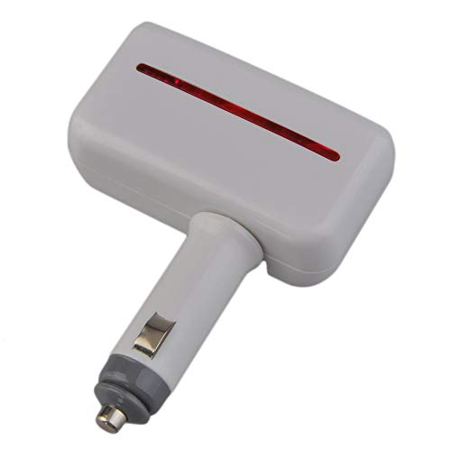 One-Divided-Two mit USB-Zigarettenanzünder Power Charger 90 ℃ Drehbares weißes + rotes Licht Extended Pda