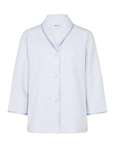 Slenderella BJ7300 Women's Blue Floral Robe Bedjacket L (42/44 EU) (Robe Blue Floral)