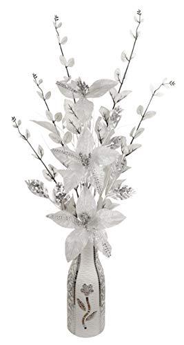 Flourish Argent et Blanc Diamante Fleurs Artificielles dans...