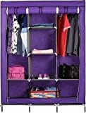 #9: Unique Gadget Fancy & Portable Fabric Collapsible Foldable Clothes Closet Wardrobe Storage Rack Organizer Cabinet Cupboard Almirah Multicolor