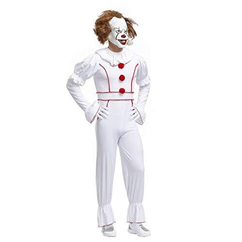 ERFD&GRF Herren Kostüm Es Cosplay Scary Clown Halloween Terror Kostüm M XL, XL (Jungen Scary Clown Kostüm)