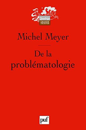 De la problématologie: Philosophie, science et langage