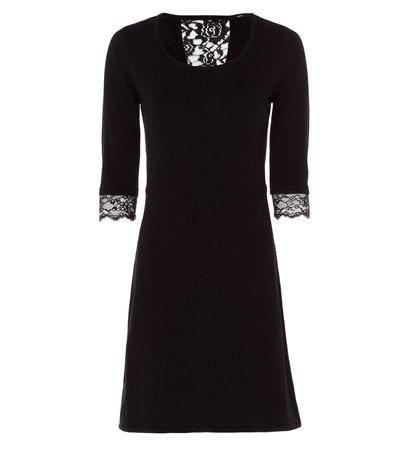 zero Damen Kleid mit Spitzeneinsatz 313867 black 42