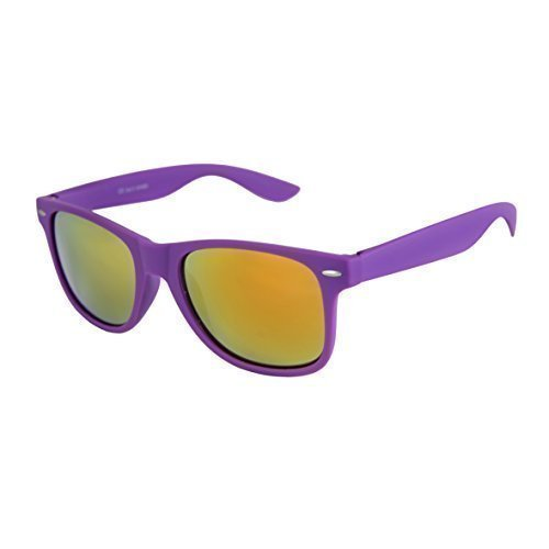 c1245ffd48 High quality Nerd Sunglasses mat Rubber Retro Vintage Unisex Glasses with  Spring hinge - 101 Various Colours Model selectable - Purple - Red Orange  mirrored ...