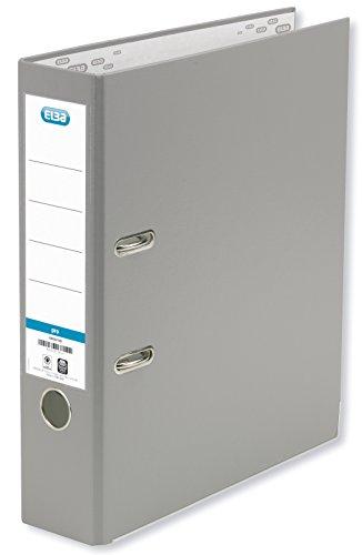 ELBA Ordner smart Pro 8 cm breit DIN A4 grau Ringordner Aktenordner Briefordner Büroordner Plastikordner Schlitzordner