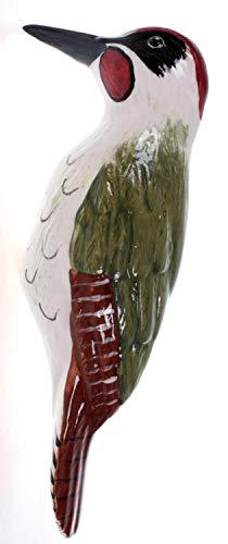 Schick-Design Keramik Grünspecht 22 cm Figur Vogel Gartendekoration Balkon Deko Accessoire Garten Tier Wald
