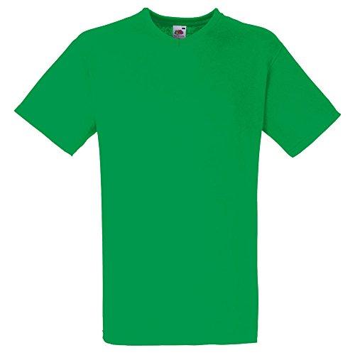 Fruit of the Loom Valueweight V-Neck T-Shirt in verschiedenen Farben und Größen Maigrün