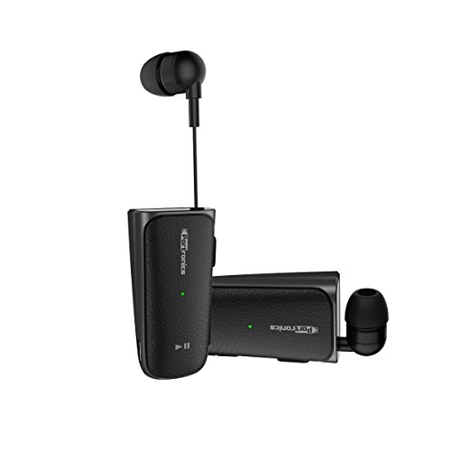 Portronics POR-811 Harmonics Klip II Retractable in-Ear Earphones (Black)