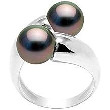 30d1da6a91db8 Pearls   Colors - Bague Solitaire - Argent 925 - Eternity - Perle de culture  de