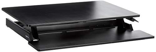 AmazonBasics - Höhenverstellbarer Aufsatz inkl. Tastaturablage für den Schreibtisch, zum Arbeiten im Sitzen oder Stehen - Schreibtisch Tastaturablage