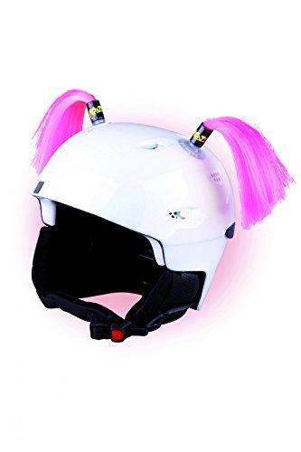 Crazy Ears Helm-Accessoires Zöpfe. Ski-Ohren geeignet für Skihelm Motorradhelm Fahrradhelm und vieles mehr. Helm Dekoration für Kinder...