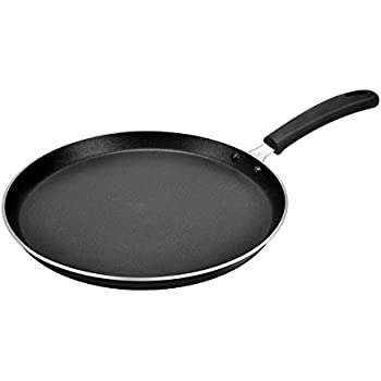 Tosaa Non Stick Flat Tawa, 28.5cm, Black and Red