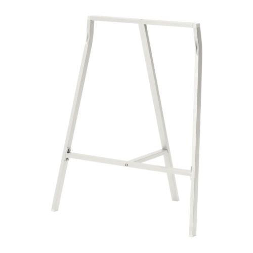 """IKEA Tischbock \""""LERBERG\"""" Klappbock Frame Stand - BxTxH: 60 x 39 x 70 cm - max Belastung: 50 kg - Stahl - WEISS"""