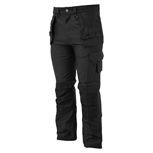 Oswin Pantaloni da Lavoro per Uomo, Multitasche con Alloggiamento per Ginocchiere Cordura - Render PRO - 40W 33L
