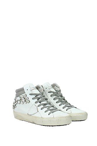 MDHDDV02 Philippe Model Sneakers Femme Cuir Blanc Blanc