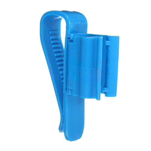 Wasser Tank Montage (Carry stone Premium Qualität 2 stücke Aquarium Montage Clip Kunststoff Aquarium Wasser Rohrschelle Schlauch Stange Befestigung Clip Halterung)