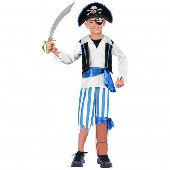 Peg Kostüm Leg - Peg Leg Pirate (Deluxe) - Kids Costume 9 - 11 years