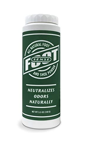 Foot Sense All Natural Foot And Shoe Powder, Kills Bacteria That Cause Foot Odor - 100g / 3.5oz