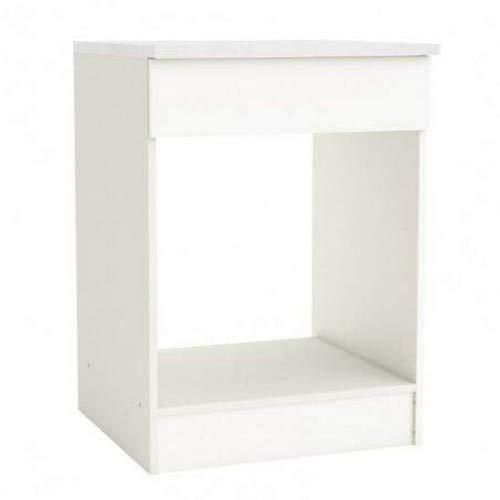 13Casa - Küchenunterschrank Adria für einen Ofen-Einsatz, Grundfläche: 60 cm Maße: 60 x 60 x 84 cm. Material: Melamin. Weiß
