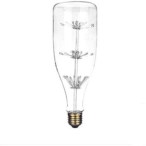 xinrong estilo Retro filamento luz Edison LED Buld que deseen botella con forma de E27220V 3W Cielo estrellado casa lámpara de bombilla decorativa regalo de Navidad