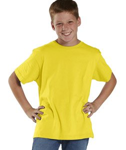 LAT 6101 Youth Fine Jersey T-Shirt - Zest, Extra Large