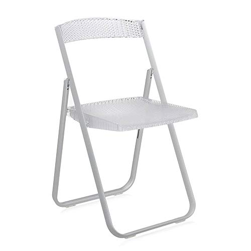 Kartell Honeycomb chaise pliante transparente cristal