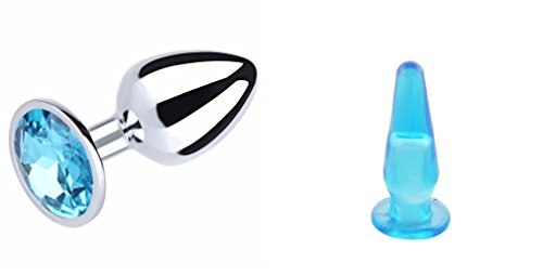 Analplug Metall Edelstahl mit Kristall + Gratis Penetration Damen Silikon Spaß Paar Herren Damen Gay lesbica Sex Toy