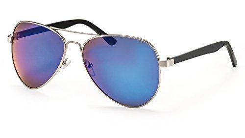 Filtral Pilotenbrille für Herren/Große Sonnenbrille mit blau verspiegelten Gläsern F3023909